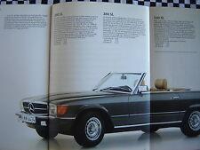 brochure MERCEDES 500 SL SEC SEL + 380 SEL + 300 TD  1982  COULEURS FRANCAIS