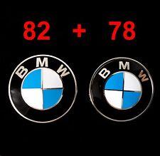 BMW 82mm Emblem Abdeckung Motorhaube Heckklappe Plakette Deckel Logo Badge 78mm