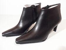 Moda Di Fausto Ladies Black Leather Sole Ankle with Heel Boot EU 33 UK 1 Italian