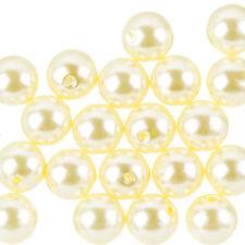 Acrylique Faux Perles Ronde Crème légère 14 mm-Pack de 20 (F105/4)