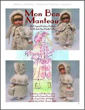 """""""Mon Bon Manteau"""" Fashion Pattern for 10 inch Tonner  Ann Estelle and Patsy"""