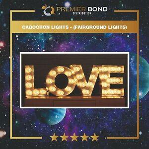 Cabochon Lights - (Fairground Lights, 24v, 1w, Warm White, 45mm Diameter)