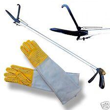 "ARD 24"" Basic SNAKE TONGS Reptile Grabber Rattle Snake Catcher with Free Gloves"