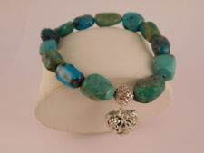 WHITNEY KELLY WK TURQUOISE STERLING SILVER HEART BRACELET GIFT BOX