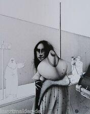 Paul WUNDERLICH (1927-2010) Original Lithographie #672 (840/1000) Strassenszene