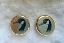 button covers, Geese, brass, good condition