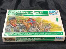 ESCI ERTL Confederate Infantry American Civil War 1/72 Scale NEW IN BOX P-223