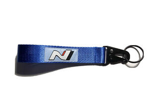 For Hyundai N N-Line N Line Blue Keychain Key Ring Strap Lanyard Nylon Universal
