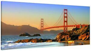Golden Gate Bridge San Francisco Panorama Canvas Print Wall Art Picture