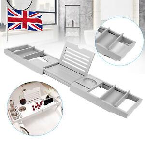 Luxury Extendable Bath Tub Caddy Bathroom Stand Tray Bathtub Shower Caddy