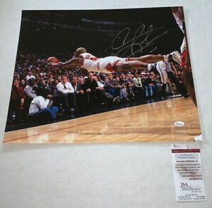 Dennis Rodman signed Chicago Bulls 16x20 photo autographed JSA Witnessed