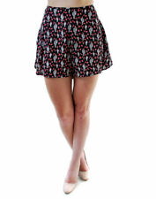 For Love & Lemons Women's Authentic  Flower Print Shorts Black RRP £ 169