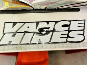 VANCE & HINES Metal Embossed Shop Sign!   Perfect for the man cave or garage.