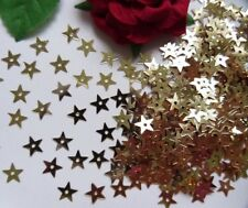 200pcs-6 MM Metallic Gold Star Christmas Sequins With a Hole-Q021
