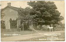 RPPC NY Sackets Harbor Dr Guthrie Home Discoverer Chloroform Inventor Perc Cap