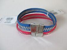 Gap RED Zipper Magnet Cuff Blue Zipper Cuff NWT $9.99 Set of 2