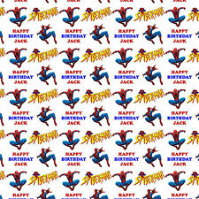 Personalised Gift Wrapping Paper SPIDERMAN Birthday Kids Adult