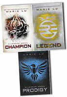 The Legend Trilogy Series Collection Marie Lu 3 Books Set Prodigy, Champion PB