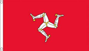 ISLE of MAN FLAG 5' x 3' IoM Manx TT Race Flags
