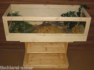 Schildkröten Terrarium 130*60*40cm aus Holz, Landschildkröten, Mäuse, Glas