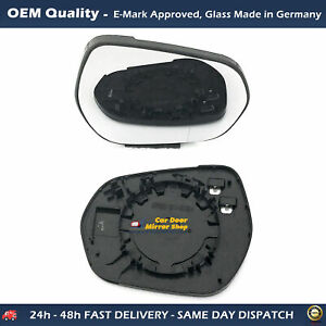 Heated Wing Mirror Glass with base For Ford Fiesta FITS To 2017 to 2020, RHS