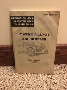 VINTAGE CATERPILLAR OPERATION MAINTENANCE 631TRACTOR CATALOG MANUAL  ORIGINAL
