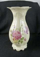 """Große Rosenthal Vase. """" Elfenbein """". Dekor Blumen. Form: Molieré. 30cm hoch"""