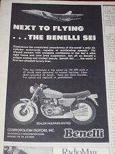 1977 BENELLI 750 cc SEI 6 CYLINDER  ***ORIGINAL AD***