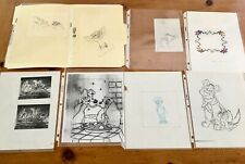 DISNEY ANIMATION DRAWINGS AND COPIES + COA!