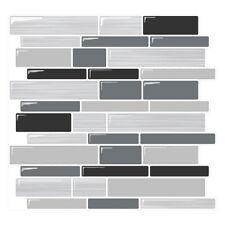 Tic Tac Tiles Smart Peel and Stick Wall, Backsplash Tile in Polito Design