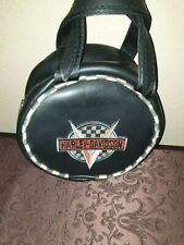 Harley-Davidson Racing Little Earth Recycled Rubber Heavy duty Purse Round