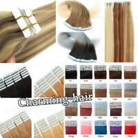 Invisible Seamless Tape in Skin Weft European Remy Human Hair Extensions 7AGrade