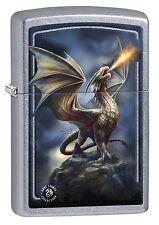 Zippo Lighter: Anne Stokes Dragon on Mountain - Street Chrome 77586