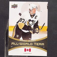 SIDNEY CROSBY  2010-11 Upper Deck All World Team #AW40  Pittsburgh Penguins Hart