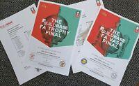 FA TROPHY FINAL & FA VASE FINAL 2018 Wembley 20/5/18 2 ORIGINAL TEAMSHEETS ONLY!