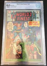 WORLD'S FINEST COMICS #195 CBCS 8.0 White 1970 Superman Batman DC Not CGC Worlds