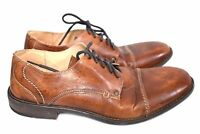 BED STU MEN'S BESSIE TAN DRIFTWOOD LEATHER OXFORDS SHOES SIZE 11 #1