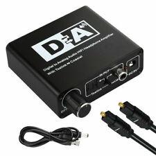 Digital to Analog Audio Converter Optical Coaxial In Headphone Speaker RCA HL