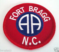 82ND AIRBORNE FORT BRAGG NC Military Veteran US ARMY Patch PM0504 EE
