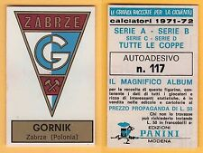 ADESIVO CALCIATORI PANINI 1971/72 - NUOVO/NEW  - N°117 GORNIK