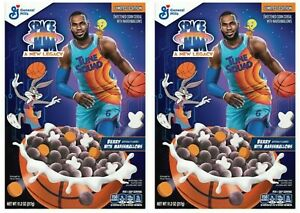 2 General Mills Space Jam A New Legacy Cereal 11.2 oz Berry w/ Marshmallows