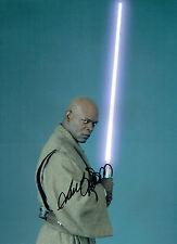 Samuel L JACKSON Mace WINDU Star Wars SIGNED Autograph 16x12 Photo AFTAL COA