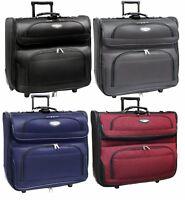 "Traveler Choice Amsterdam 23"" Wheel Rolling Upright Garment Bag Luggage Suitcase"