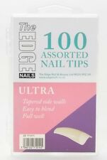 THE EDGE ULTRA NATURAL FULL WELL NAIL TIPS BOX OF 360, 100 OR REFIL PACKS