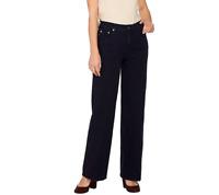 Isaac Mizrahi Live! Regular 24/7 Denim Wide Leg 5-Pocket Jeans, Black Size Reg 8