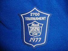 Vintage 1977 Mac Club Tournament Patch
