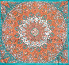Star cotton mandala wall hanging tapestry bohemian Indian bedspread queen size