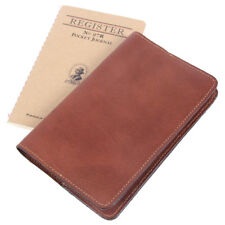 Leather Pocket Journal Refillable Ruled Notebook Brown USA Made No. 27