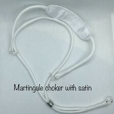 Custom Paracord martingale Satin, show dog collar,any Color. Neck Size Required
