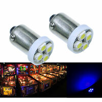 PA 30x #1893 #44 #47 #1847 BA9S 4 SMD LED Pinball Machine Light Bulb Blue 6.3V